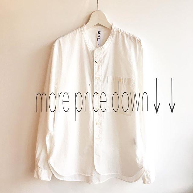 .本日よりプライスダウン!50%offも増えましたこの機会に是非ともご来店くださいませ!.実はこのシャツも50%offです…これは見逃せません.#MHL.#SALE #pricedown#finalSALE#特にメンズ良いものがまだまだありますよ#急げや急げ〜#hausmatsue #島根#松江