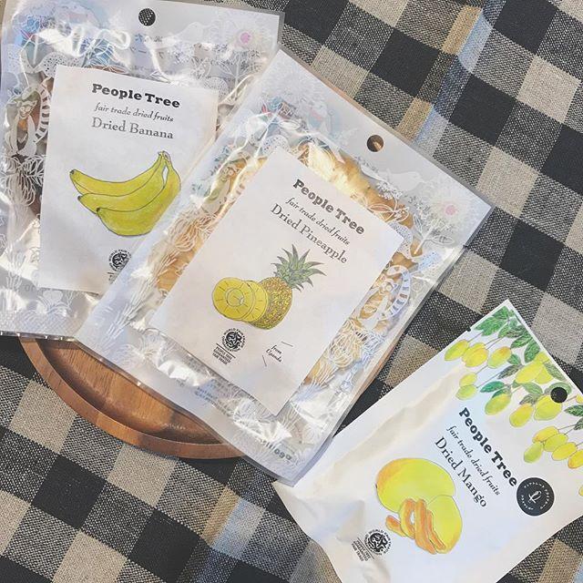 .チョコが大人気!!ピープルツリーさんから可愛いものが届きました♡砂糖や添加物など一切不使用のドライフルーツ。果物そのものの甘さだけ。とっっても美味しいです♡間食にもぴったり!小袋なので持ち歩きにもちょっとしたギフトにも◎..#ドライフルーツ#マンゴー #バナナ #パイナップル#フルーツ #果物#おやつ#ヘルシー #ピープルツリー#PeopleTree#フェアトレードカンパニー#hausmatsue #島根 #松江