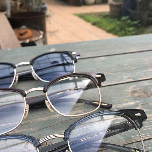 めずらしく男性よりな眼鏡です・久しぶりにサーモントブロウに惹かれます丸いのもいいですがたまにはこんな感じもステキです・#生活に寄り添うメガネ#optical#めがね#hausmatsue #島根#松江#松江メガネ#サングラス #hfusion #メガネ男子 #メガネ女子