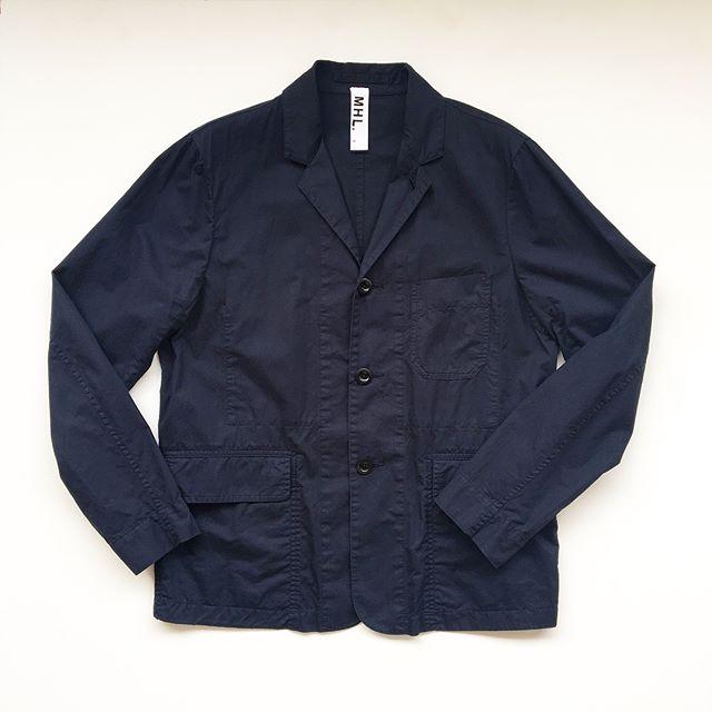 .#MHL#mens#super fine cotton twill#jacket.普段着で気兼ねなく着れる風合いも楽しめるジャケット。 .color ネイビー、カーキ.#hausmatsue #島根#松江