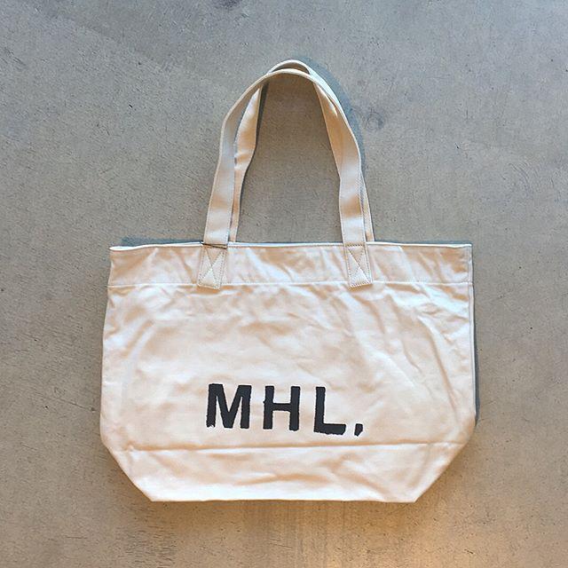 .MHL.トートも入荷です!.color エクリュ、タン.#MHL.#heavy cotton canvas#帆布#logo#bag#hausmatsue #島根#松江