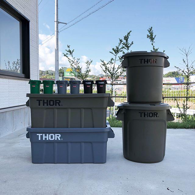 .多用途でナイスデザインな「THOR(ソー)」のコンテナシリーズ。持ち手が付いているので持ち運びも楽々。室内からガレージまで、様々な場所にマッチするデザインです。収納ボックスやゴミ箱、プランターケースなど用途は実に様々。アルミ缶サイズのコンテナは机上のペンケースとしてもお使いいただけます◎.#thor#ソー#detail#収納#収納ケース#haus #haus_matsue #hausmatsue #松江カフェ #島根カフェ #松江 #島根 #山陰