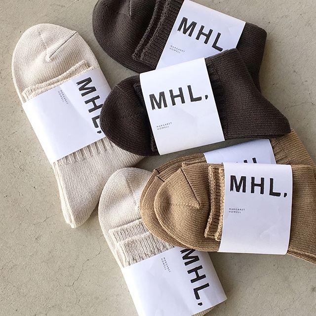 .サンダルやスニーカーとあわせてはきたいほどよいボリュームのコットンリブソックス。メンズ、ウィメンズ共に入荷してますギフトにもおすすめです。color  ホワイト、ベージュ、グレー#MHL#rough cotton short sock#socks#くつした#hausmatsue #島根#松江