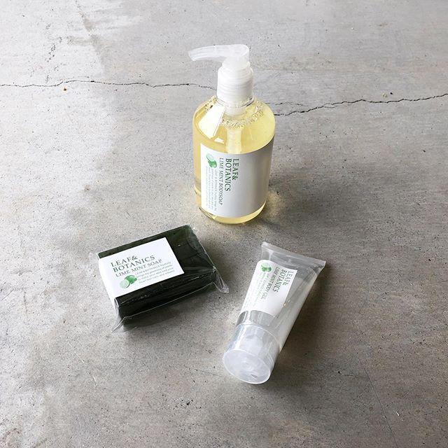 .爽快な香りと心地よいひんやり感。「ライムミント」「和種薄荷(ハッカ)」のボディ&ウォッシュが到着しました。.人気のLEAF&BOTANICSから入荷のライムミント。夏季限定の香りでパッケージまで涼やかなデザインに仕上げられています。.松山油脂から入荷の和種薄荷もハッカ特有のひんやり涼しい爽快な洗い上がりを感じられるボディソープと石鹸をご用意しました。.真夏前の気の利いたギフトにおすすめですので是非ご覧にお越しくださいませ◎.#leafandbotanics #松山油脂#ライムミント#和種薄荷#haus #haus_matsue #hausmatsue #松江カフェ #島根カフェ #松江旅行#島根旅行#松江 #島根 #山陰