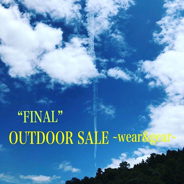 """""""Outdoor items""""FINAL SUMMER SALE!!!.大変多くのお客様にお越し頂きましたアウトドアコーナーのセールですが、ご好評につきファイナルセールへと突入いたします︎.○期間8/24(sut)〜8/31(sut).お得な商品を追加して、L・XLなど大きめサイズの商品など含めまだまだ着れる使えるアイテムをご用意してお待ちしております︎.消費税アップ前に是非ゲットして下さい︎※対象外の商品がございます。.#summersale#outdoors#haus #haus_matsue #hausmatsue #松江カフェ #島根カフェ #松江旅行#島根旅行#松江 #島根 #山陰"""