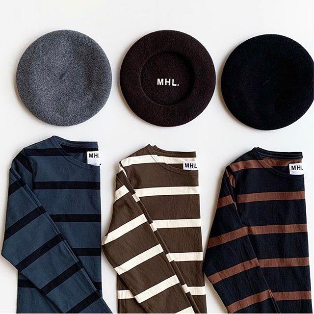 .そろそろ頭も秋支度。MHLの国産ベレー届きました少し厚みのあるMHLらしいベレー。大きさも大きすぎずコンパクトにまとまります。color ミディアムグレー、ブラウン、ブラック#MHL#WOOL BERET#béret#ベレー帽 #hausmatsue #島根#松江