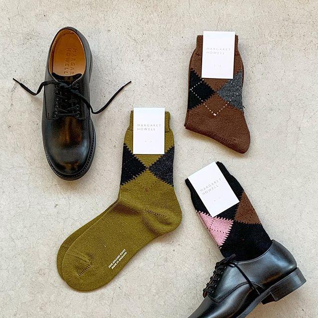 暗くなりがちな秋冬の足元にARGYLE SOCKHÅUSのハウエルのインスタはこちらです︎@haus_howell #MARGARETHOWELL#ARGYLE SOCK#socks#靴下#イギリス製#hausmatsue #島根#松江