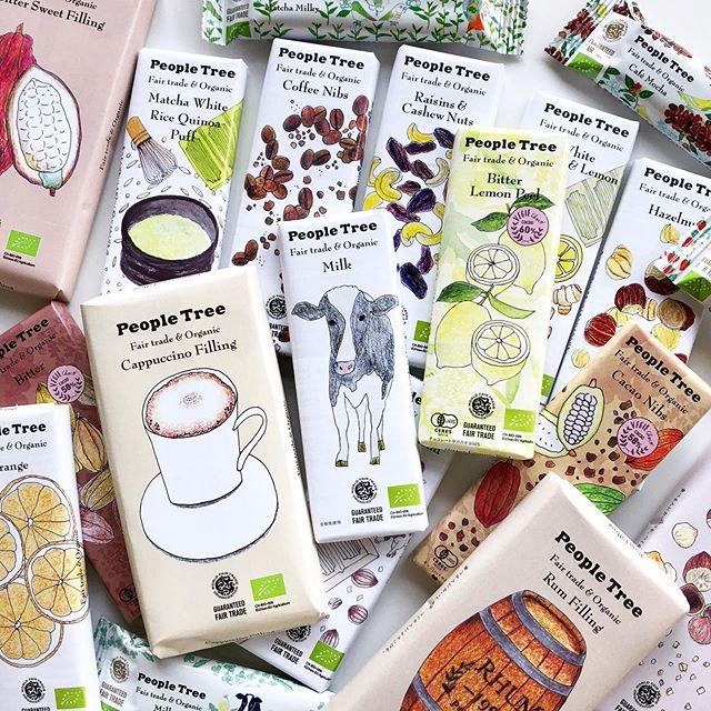 """.『 People Tree """"Chocolate""""🐄 』.先月入荷したピープルツリーのチョコレート。更にフレーバーの種類が増えて、より豪華なラインナップに強化されました。.一枚でありながら大きくたっぷりとした容量で、満足感と幸せが長続きする「フィリングタイプ」。中身がぎっしり詰まった「デザートバー」。一番人気の板チョコと合わせてギフトに組み合わせるのもおすすめです。.新フレーバーの「Coffee nibs」「Cacao nibs」もぜひお試しください️.#peopletree#ピープルツリー#フェアトレード#haus #haus_matsue #hausmatsue #松江カフェ #島根カフェ #松江旅行#島根旅行#松江 #島根 #山陰"""